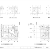 S造3階建店舗併用住宅の課題(断面図・立面図・矩計図)