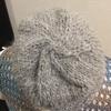 手紡ぎ糸を編んでいます。