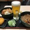 やよい軒で、ビールを飲もうとしたら、ほぼ満席で混んでいたので、ゆで太郎で飲む。 (@ ゆで太郎 in 豊島区, 東京都)