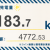9/23〜9/29の総発電量は183.7kWh(目標比72%)でした!