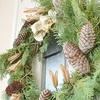 庭木や自然素材でナチュラルなクリスマスリースを手作りする