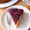 Berry upside-down cake