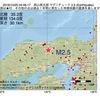 2016年10月25日 04時46分 岡山県北部でM2.5の地震