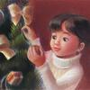 パステル色鉛筆「おとちゃんとクリスマスツリー(改訂)」
