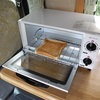 ハイエース キャンピングカー 朝食のトーストはオーブントースターで