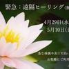 4/29〜5/10 緊急遠隔ヒーリング(無料)開催