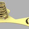 電極その3とバネをアセンブリしてサブ・アセンブリを作成する