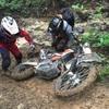 初心者オフロードバイク乗りが雨の日に山で遊んだ結果