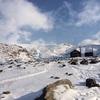 初冬の十勝岳