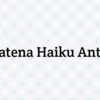 Hatena Haiku Anti-Spam