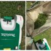 クラピアの刈り込みには電動芝刈り機が楽だと感じました