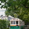 岡崎公園と京都市電