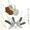 【イラスト】1泊の場合と2泊の場合の飼い猫の反応が‥w