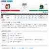 2019-09-15 カープ第138戦(マツダスタジアム)●7対8 ヤクルト (69勝66敗3分)エルドレッドの引退セレモニーですべて許された。
