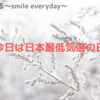 今日は何の日~日本最低気温の日~