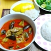 【今日の食卓】レッドカレー、カオニャオ・マムアン(餅米のココナッツミルク煮マンゴー添え)~ソンクラーン(タイの正月)なのでご馳走
