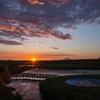【今日の一枚】河川公園から見る夏の夕陽