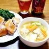 ☆給食風☆肉団子スープ☆鶏の塩焼き☆