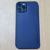 memumi。iPhone 12 Pro用ケース 0.3㎜超薄型 全面保護カバー。 (Trans-Blue)