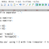 gnuplotの使い方【スクリプトファイルの使用、目盛の設定】