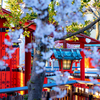 京都・嵯峨野 - 渓仙桜咲く桜の宮(車折神社)