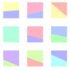 Processingで四角形を2つくっつけて、複数ランダムに描く
