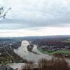 ドイツ・ボン郊外のケーニヒスヴィンタ―で『竜の岩山』に登りライン川を眺める