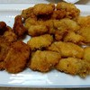 牡蠣フライです。牡蠣のアヒージョ食べたかった。