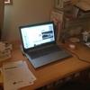 新しいノートパソコンからブログ更新。