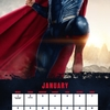 """""""ジャスティス・リーグ""""2018年カレンダーでスーパーマンがポーズをとる。"""