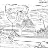浦島太郎は亀を釣り上げたのでした。 ~『浦島太郎』その2~