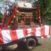 トラックに乗った神輿