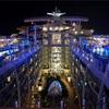 【カリブ海クルーズ】乗船1日目ですでに大満足!?船内夜景やスケートショーを堪能