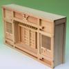 壁に埋めこんだり嵌めこむときには最適な薄型の箱宮神棚三社