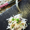 大根の皮って美味しい!大根の皮の生姜と塩昆布炒めのレシピ。