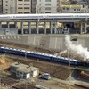 あおなみ線と蒸気機関車(SL)
