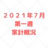 【家計管理 結果 検証】2021年7月 第一週 家計概況