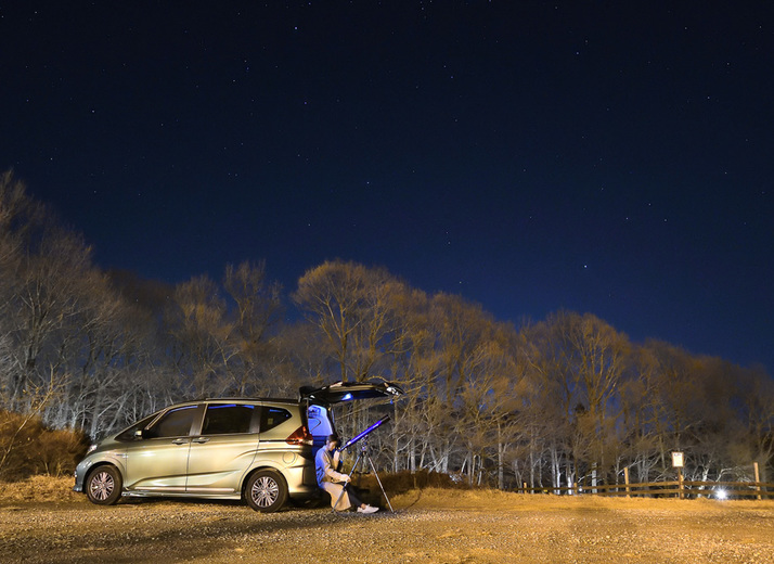 Honda フリード+で車中泊して天体観測!満天の星空を目指し那須高原へ