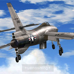 My FSX Republic XF - 91 Thunderceptor is available for download!