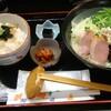 小台【くつろぎ空間 ちひろ】真鯛ラーメンと生のりわさび丼 ¥750