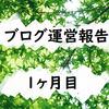 【3000文字以上】雑記ブログ1ヶ月目の運営報告!PV数、読者数、収益など【はてなブログ】