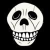 かわいい骸骨 のイラスト