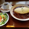 修善寺no洋食屋さんのランチでオムライス食べてきました。