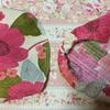 5:ピンクのお花柄★バニランワンピース作るよ♪