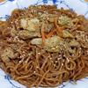 10月15日(月)煮干し風味の焼きそばと、カキの天ぷら。