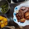 幸運な病のレシピ( 2326 )夜:手羽元、豚肩ロース仕込み、マユのご飯
