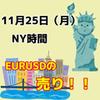 【11/25 NY時間】EURUSDの1時間足レンジブレイク!!