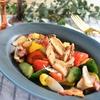 ベーコンと彩り野菜のホットサラダ*炒めて簡単♪作り置きにも!