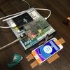 タッチペンをCD-ROMドライブにつけてンゴストップを回す装置