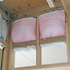 快適車中泊改造計画 e-NV200の断熱材加工